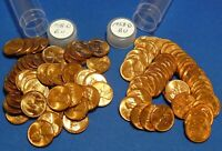1958 D LINCOLN WHEAT CENT   BU   2 TUBED ROLLS