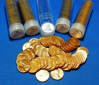 1960 D LARGE DATE LINCOLN MEMORIAL CENTS   BU   5 TUBED ROLLS