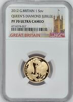 2012 GOLD PROOF SOVEREIGN PF70 ULTRA CAMEO  ONE OF MOST COLL
