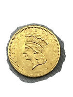 1856 UNITED STATES MINT ONE DOLLAR GOLD COIN $1 LIBERTY TYPE