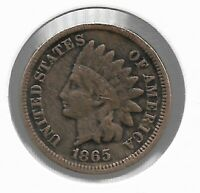 RARE VERY OLD ANTIQUE US 1865 CIVIL WAR INDIAN HEAD PENNY CO