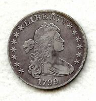 1799  DRAPED BUST SILVER DOLLAR  EXTRA FINE