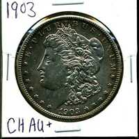 1903 $1 MORGAN SILVER DOLLAR IN CHOICE AU CONDITION 03072