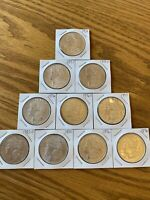 LOT OF 10 90  MORGAN SILVER DOLLARS COINS