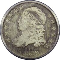 1830/29 10C CAPPED BUST DIME ANACS F12 JR 5  OLD TYPE COIN MONEY