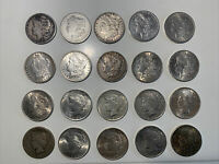 US SIVLER DOLLAR LOT  20  MORGAN PEACE DOLLARS