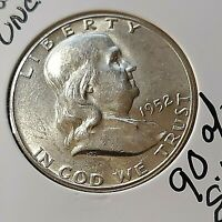 1952 P  FRANKLIN HALF DOLLAR 90  SILVER UNCIRCULATED FREE S/
