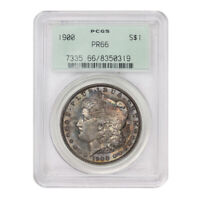 1900 $1 MORGAN SILVER DOLLAR PCGS PR66 PROOF ORIGINAL GREEN HOLDER TONED