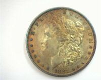 1881-O MORGAN SILVER DOLLAR ABOUT IRIDESCENT TONING JUST BEAUTIFUL