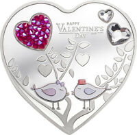 COOK ISLANDS 2021 5$ HAPPY VALENTINES DAY 2021  SILVER HEART