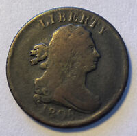 1808 DRAPED BUST HALF CENT NICE VF AND ORIGINAL 555