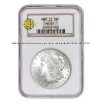 1880-CC $1 SILVER MORGAN NGC MINT STATE 67 PQ APPROVED VAM-9 CARSON CITY DOLLAR COIN