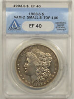 1903-S MORGAN DOLLAR - VAM-2, SMALL S, MICRO S, TOP 100 - ANACS EF-40