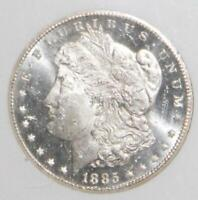 1885 CC MINT STATE 63 PL $1 PROOF LIKE MORGAN SILVER DOLLAR-SUPERIOR EYE APPEAL