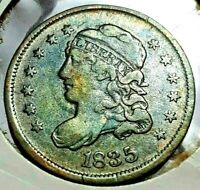 1835 US CAPPED BUST HALF DIME 5 CENTS SILVER COIN