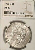 1902-O MORGAN DOLLAR NGC MINT STATE 63    SUPER SMOOTH CLEAN FIELDS