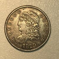 1829 CAPPED BUST HALF DIME AU ABOUT UNCIRCULATED