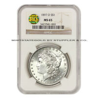 1897-O $1 MORGAN NGC MINT STATE 65 PQ APPROVED SILVER DOLLAR GEM GRADED COIN