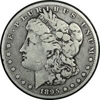 1895-O $1 MORGAN SILVER DOLLAR FINE  OLD TYPE COIN MONEY