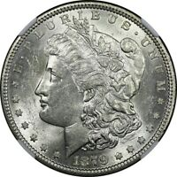 1879 $1 MORGAN SILVER DOLLAR NGC MINT STATE 61  OLD TYPE COIN MONEY