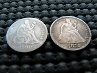 1890 MPD AND 1872 SEATED DIMES