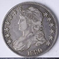 1830 CAPPED BUST HALF VF LARGE O