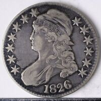 1826 CAPPED BUST HALF VF PLEASING COIN