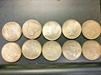 LOT OF 101922 US SILVER PEACE DOLLARS