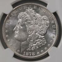 1878-S MORGAN $1 NGC CERTIFIED MINT STATE 65 GRADED SAN FRANCISCO MINT SILVER DOLLAR
