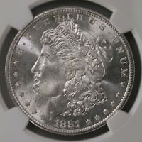 1881-S MORGAN $1 NGC CERTIFIED MINT STATE 66 GRADED SAN FRANCISCO MINT SILVER DOLLAR