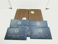 7 U.S. EISENHOWER 40  SILVER DOLLAR COIN SETS DATED 1973 PRO