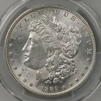 1889-S MORGAN $1 PCGS CERTIFIED MINT STATE 61 SAN FRANCISCO MINTED US SILVER DOLLAR COIN