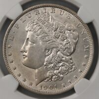 1901 MORGAN $1 NGC CERTIFIED AU55 AU GRADED US SILVER DOLLAR COIN