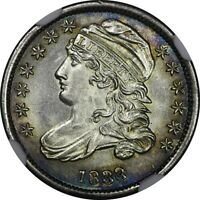 AN ABSOLUTE TRAGEDY 1833 10C CAPPED BUST DIME NGC UNC DETAIL