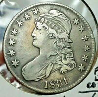 1831 CAPPED BUST HALF DOLLAR CIRCULATED CONDITION