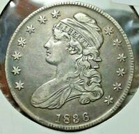 1836 CAPPED BUST HALF DOLLAR HIGH GRADE CIRCULATED CONDITION