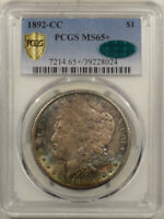 1892-CC MORGAN DOLLAR PCGS MINT STATE 65 CAC APPROVED