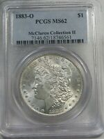 UNC 1883-O MORGAN DOLLAR PCGS MINT STATE 62 MCCLAREN COLLECTION II.  5