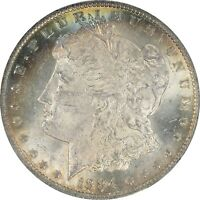 1884-O MORGAN SILVER DOLLAR PCGS MINT STATE 63 TONED