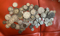 GB LOTS OF SILVER COINS ALL PRE 1920 SCRAP OR COLLECT TOTAL
