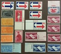 LOT OF  19  VINTAGE US SPECIALTY STAMP / AIR MAIL SPECIAL DE