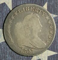 1807 DRAPED BUST SILVER HALF DOLLAR LARGE EAGLE COLLECTOR COIN SHIPS FREE