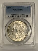 1898-O MORGAN SILVER DOLLAR COIN - PCGS MINT STATE 63