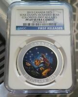 2015 CANADA SILVER STAR CHARTS   WOUNDED BEAR   NGC PF 69 ULTRA CAMEO