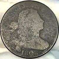1802 1C DRAPED BUST LARGE CENT ||| GREAT LOOKING, EARLY US COPPER