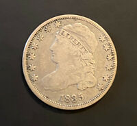 1835 CAPPED BUST SILVER DIME 10C F CONDITION