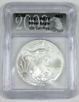 2009 AMERICAN 1 OZ SILVER EAGLE $1 CERTIFIED ICG MS 70