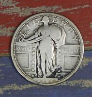 1917-S TYPE 1 STANDING LIBERTY SILVER QUARTER COLLECTOR COIN. SHIPS FREE