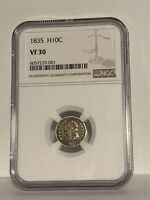 1835 CAPPED BUST HALF DIME  NGC VF30