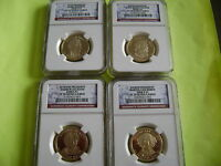 2008-S NGC PF70 ULTRA CAMEO PRESIDENTIAL 4-COIN DOLLAR PROOF SET